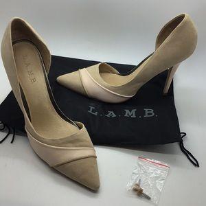 L.A.M.B. Suede Heels